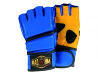 MadMax Fight Gloves Genuine Leather (Blue / Yellow)