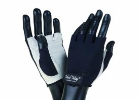 MAD MAX Fitness gloves BASIC white / black